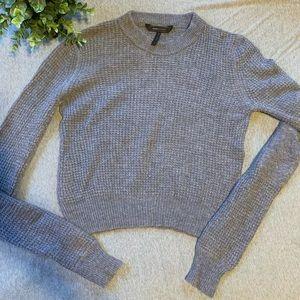 steel blue knit sweater - m